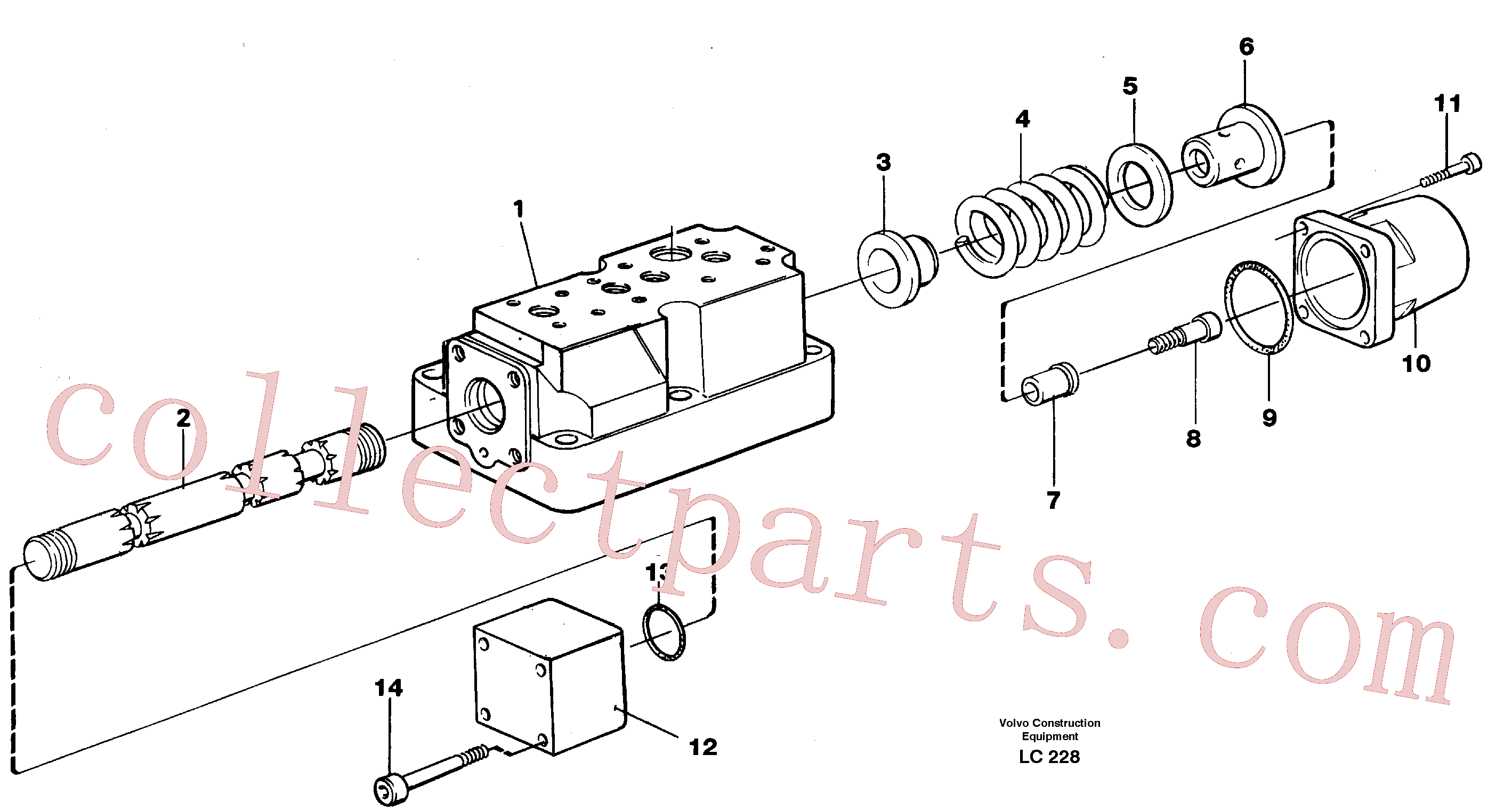 VOE14048548 for Volvo Four-way valve, rotating equipment(LC228 assembly)