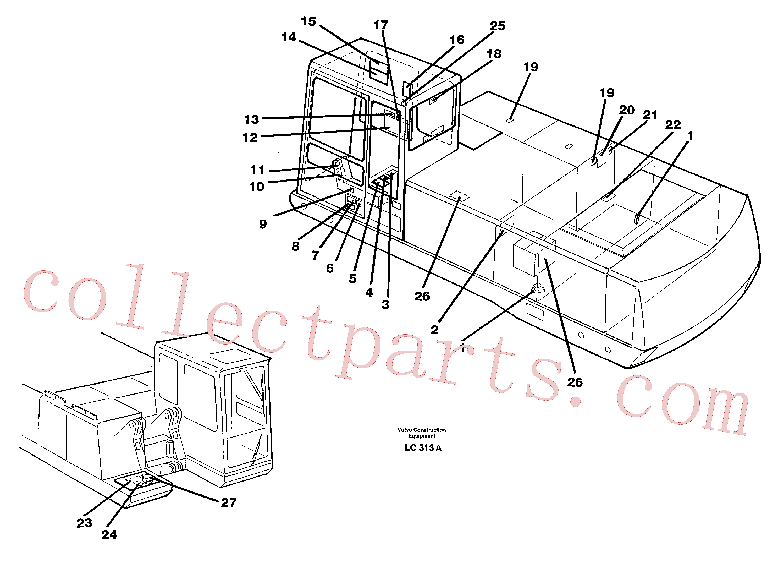 VOE11004094 for Volvo Sign plates and transfer,inner location(LC313A assembly)