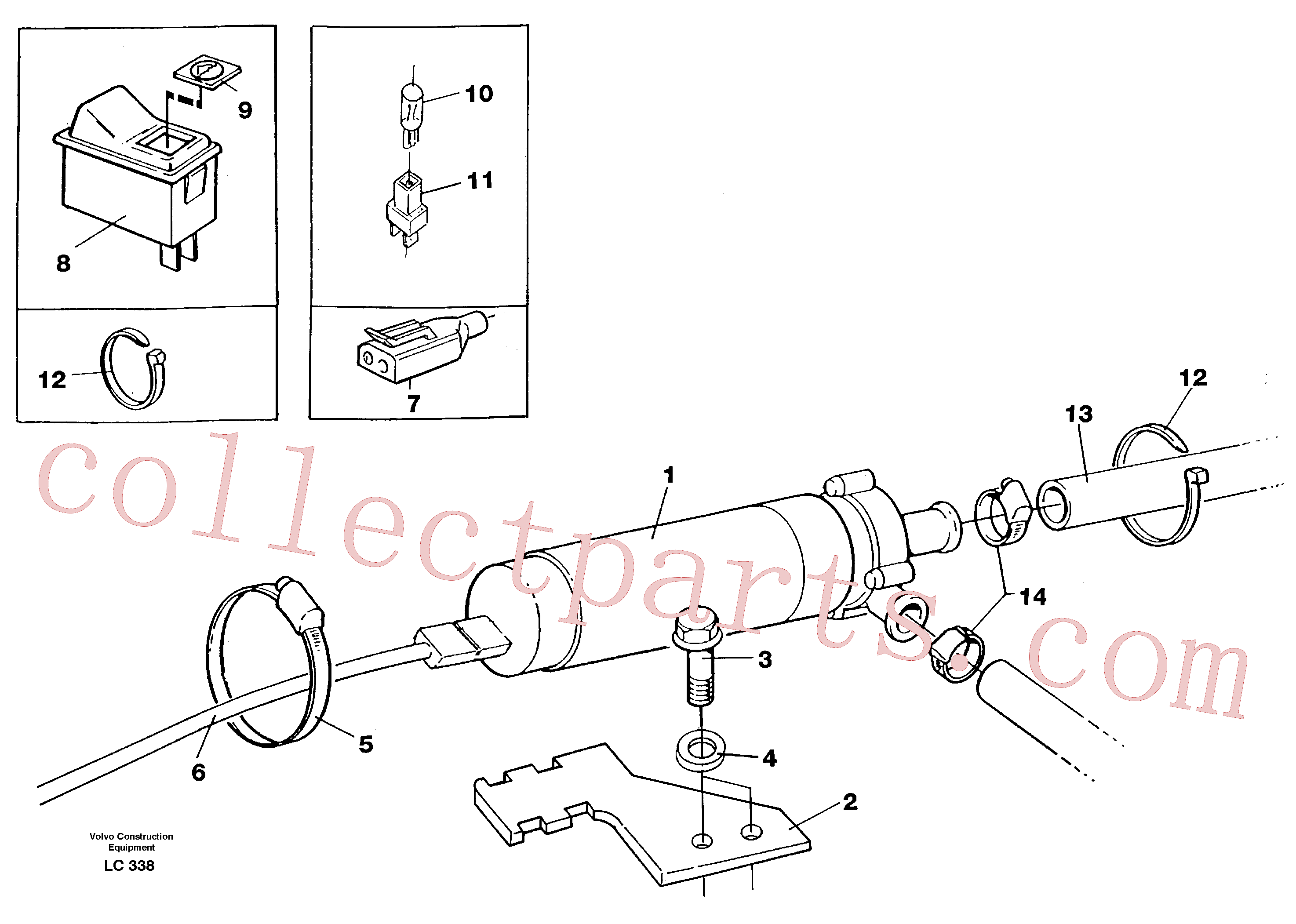 VOE13960148 for Volvo Cirkulation pump(LC338 assembly)