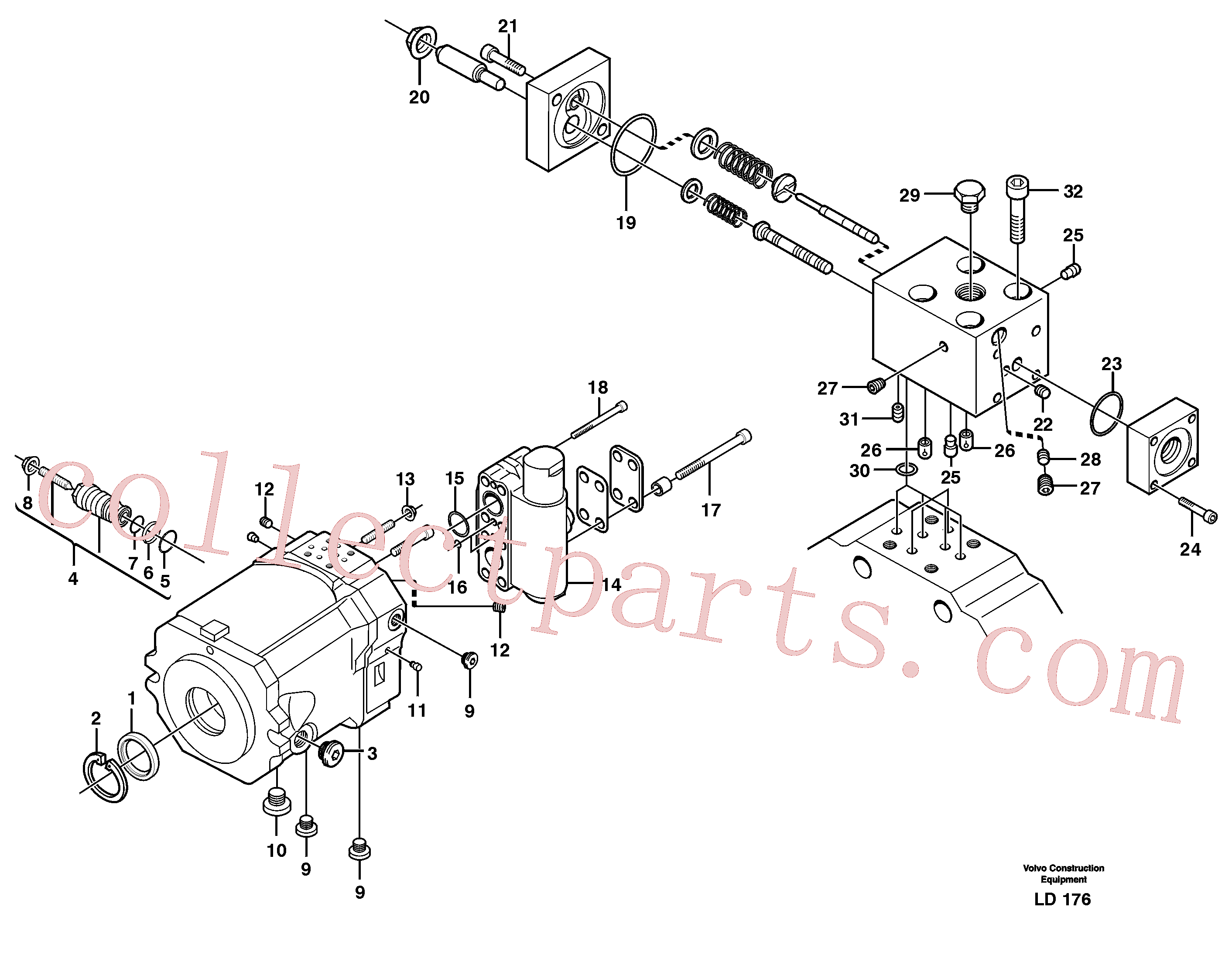 VOE11705605 for Volvo Hydraulic motor, travel(LD176 assembly)