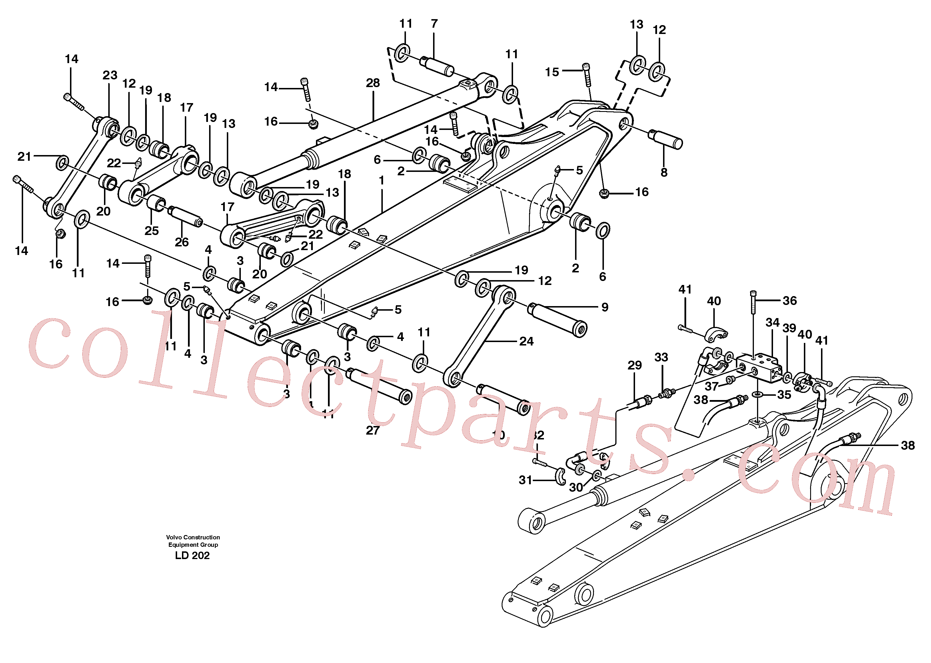 VOE14379740 for Volvo Dipper arm incl. connect.(LD202 assembly)