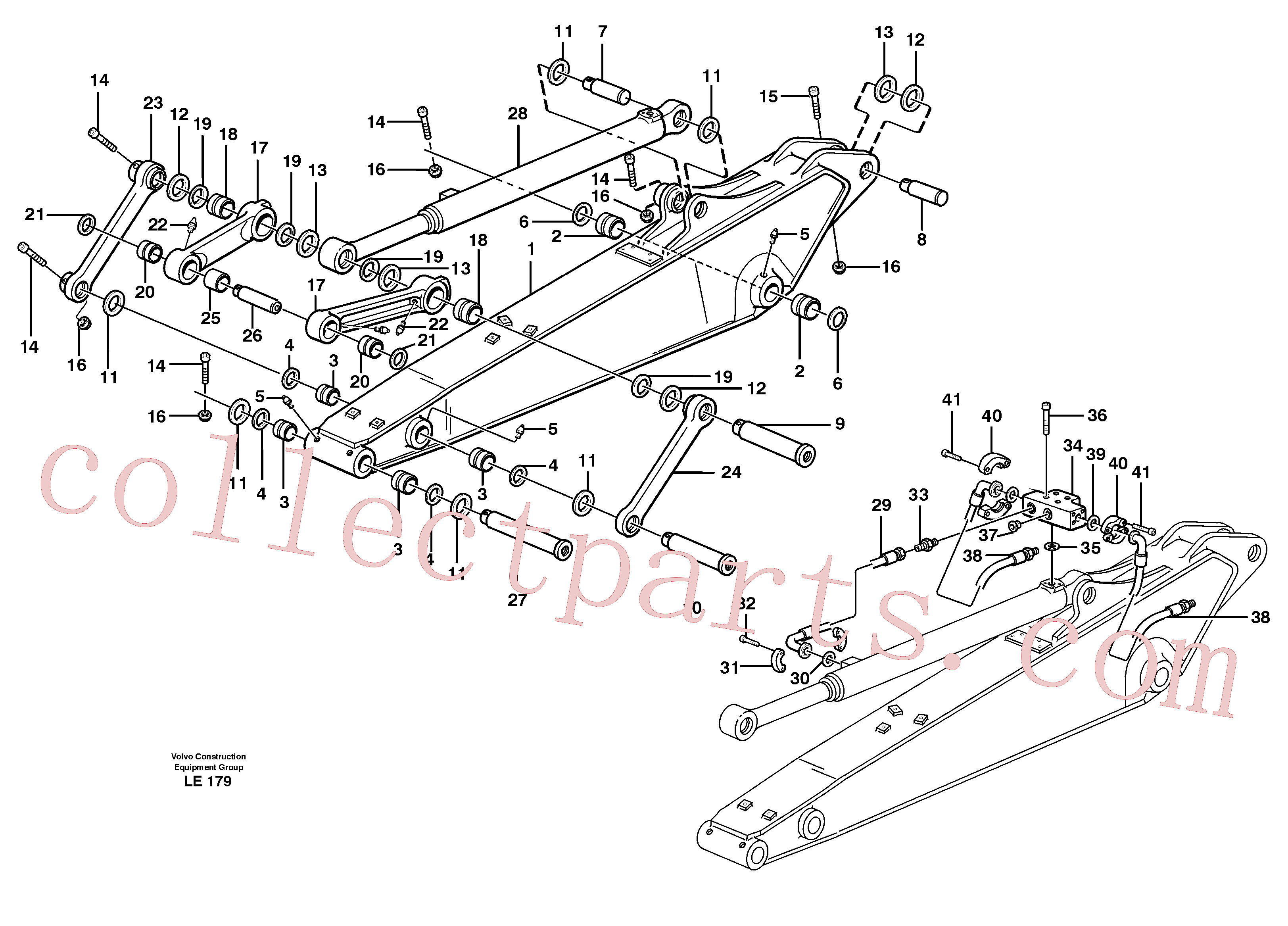 VOE14379740 for Volvo Dipper arm incl. connect.(LE179 assembly)