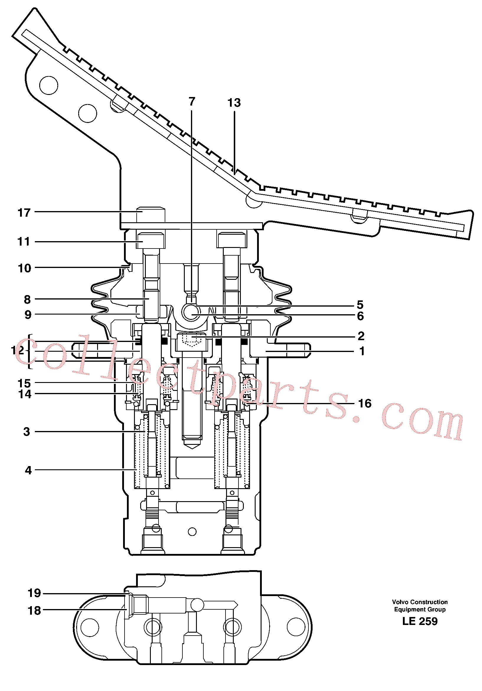 VOE11705992 for Volvo Footbrake valve, transport(LE259 assembly)