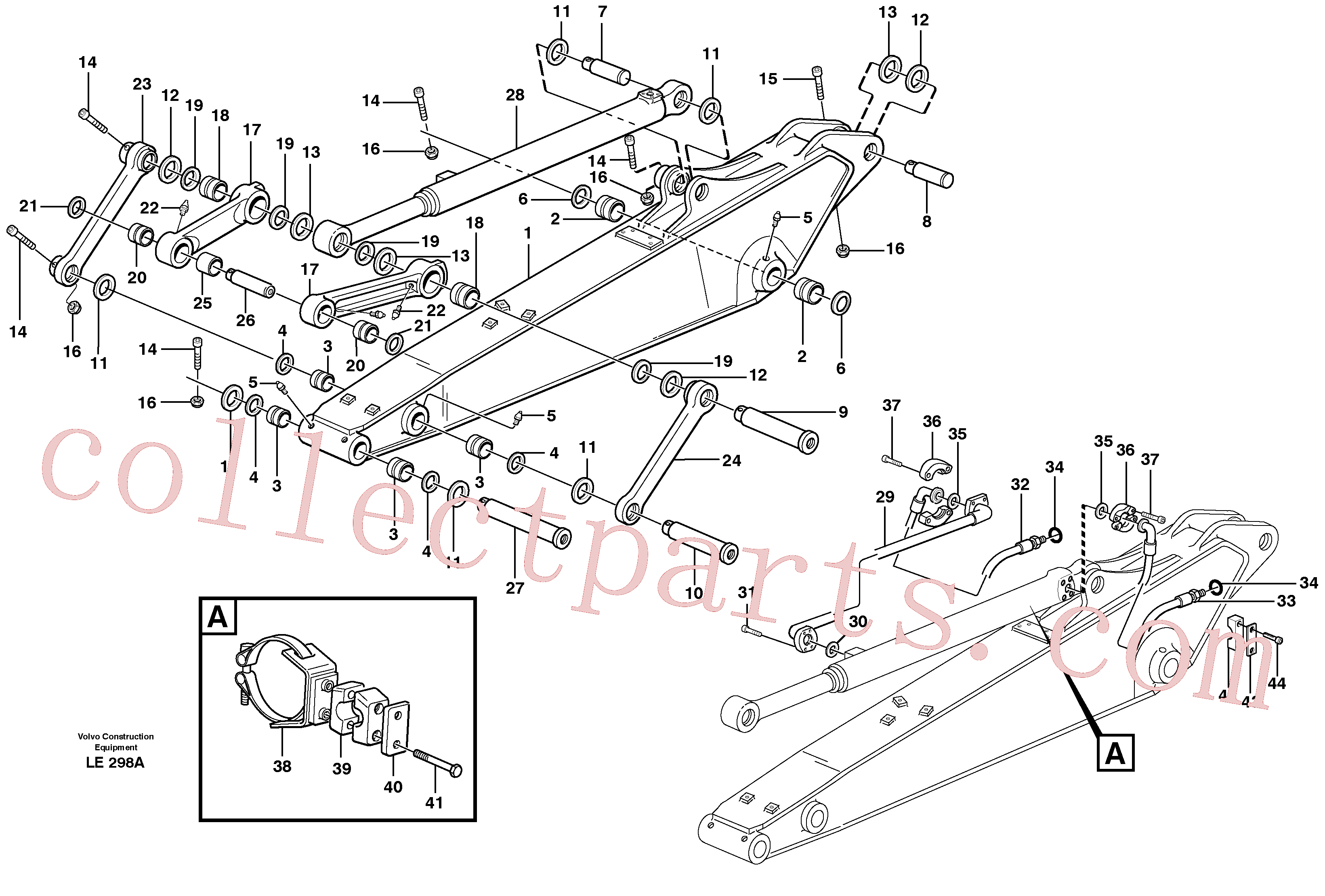 VOE14379740 for Volvo Dipper arm incl. connect.(LE298A assembly)
