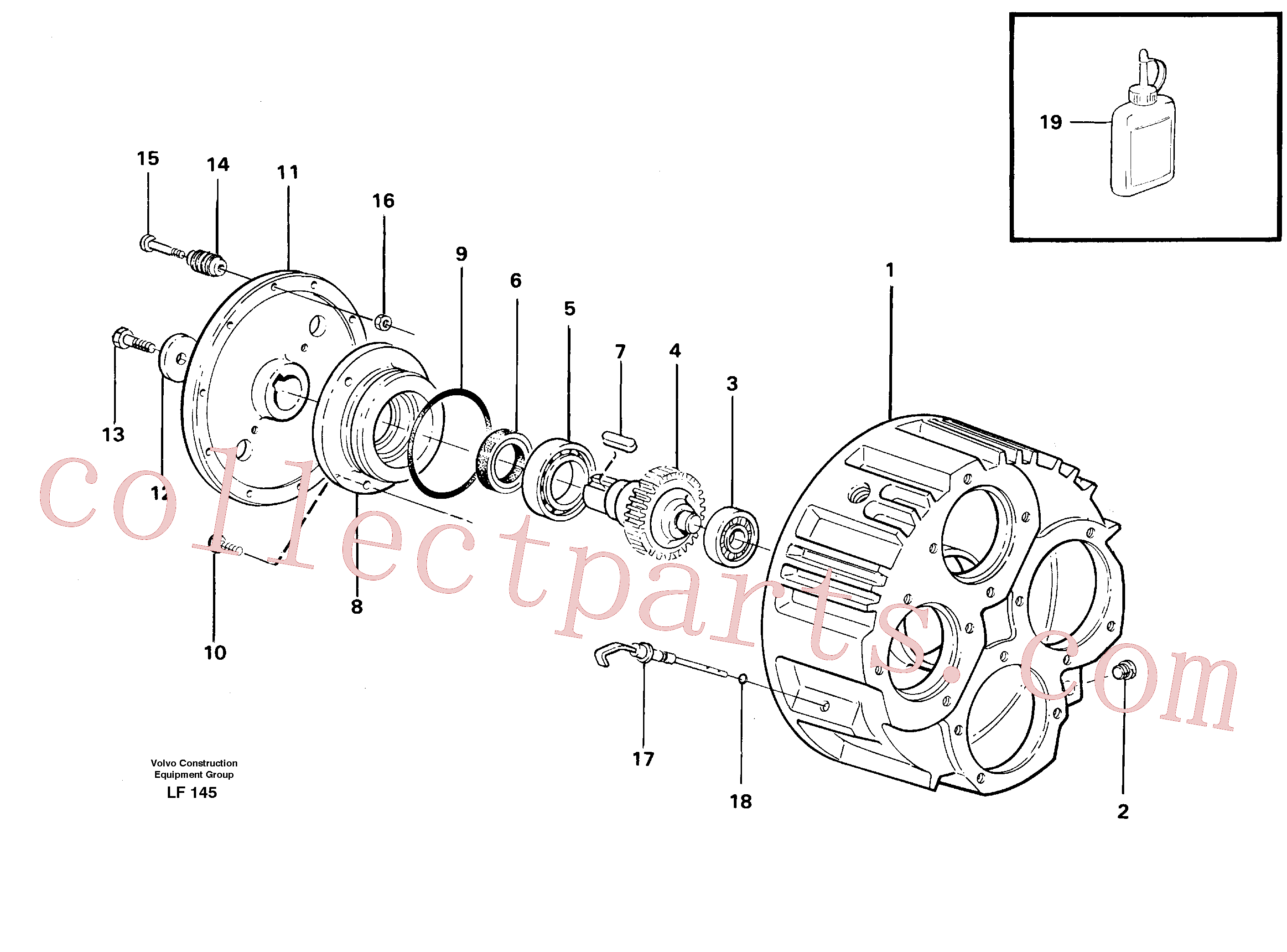 VOE14237965 for Volvo Pump gear box(LF145 assembly)