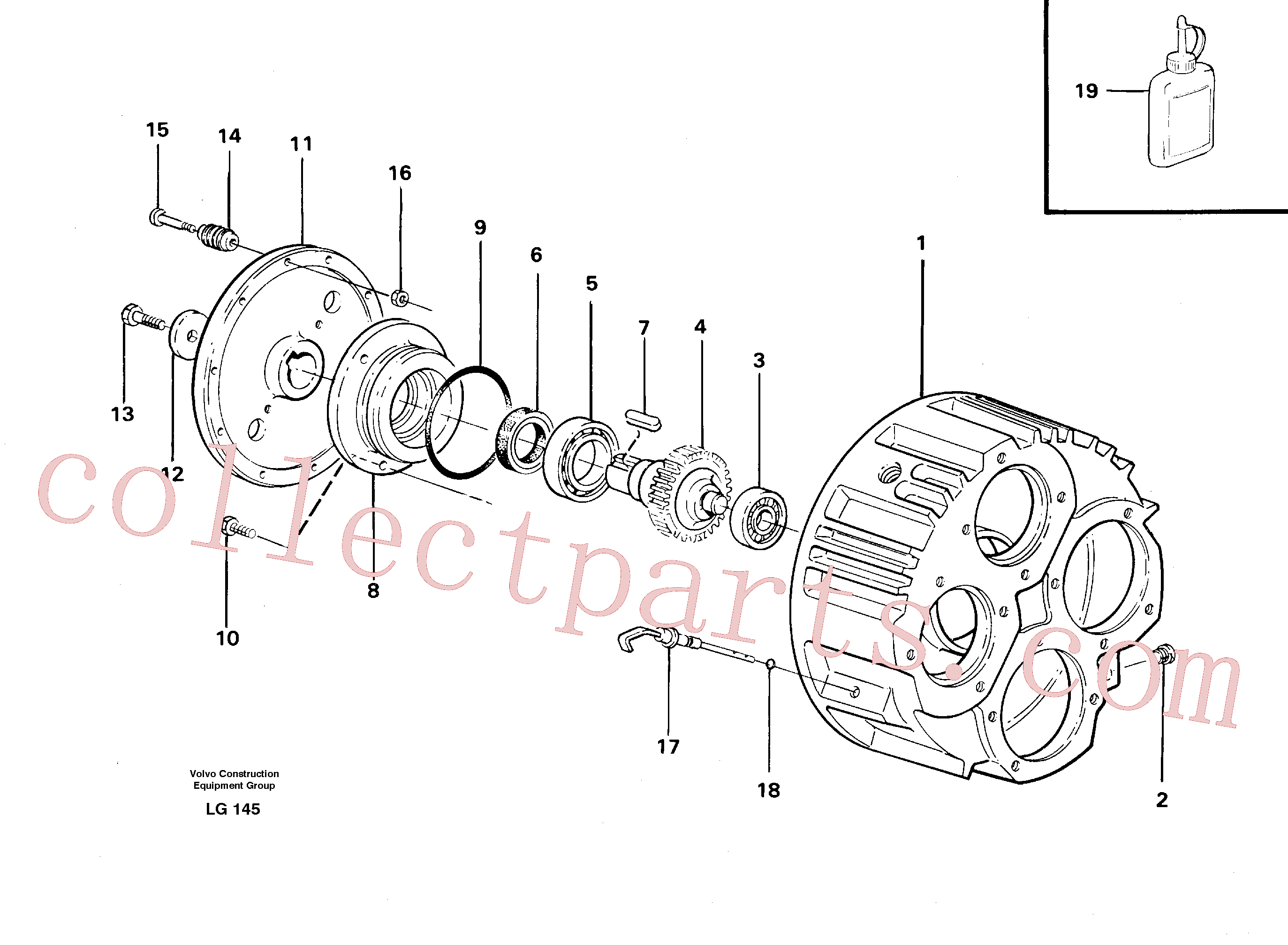 VOE14237965 for Volvo Pump gear box(LG145 assembly)