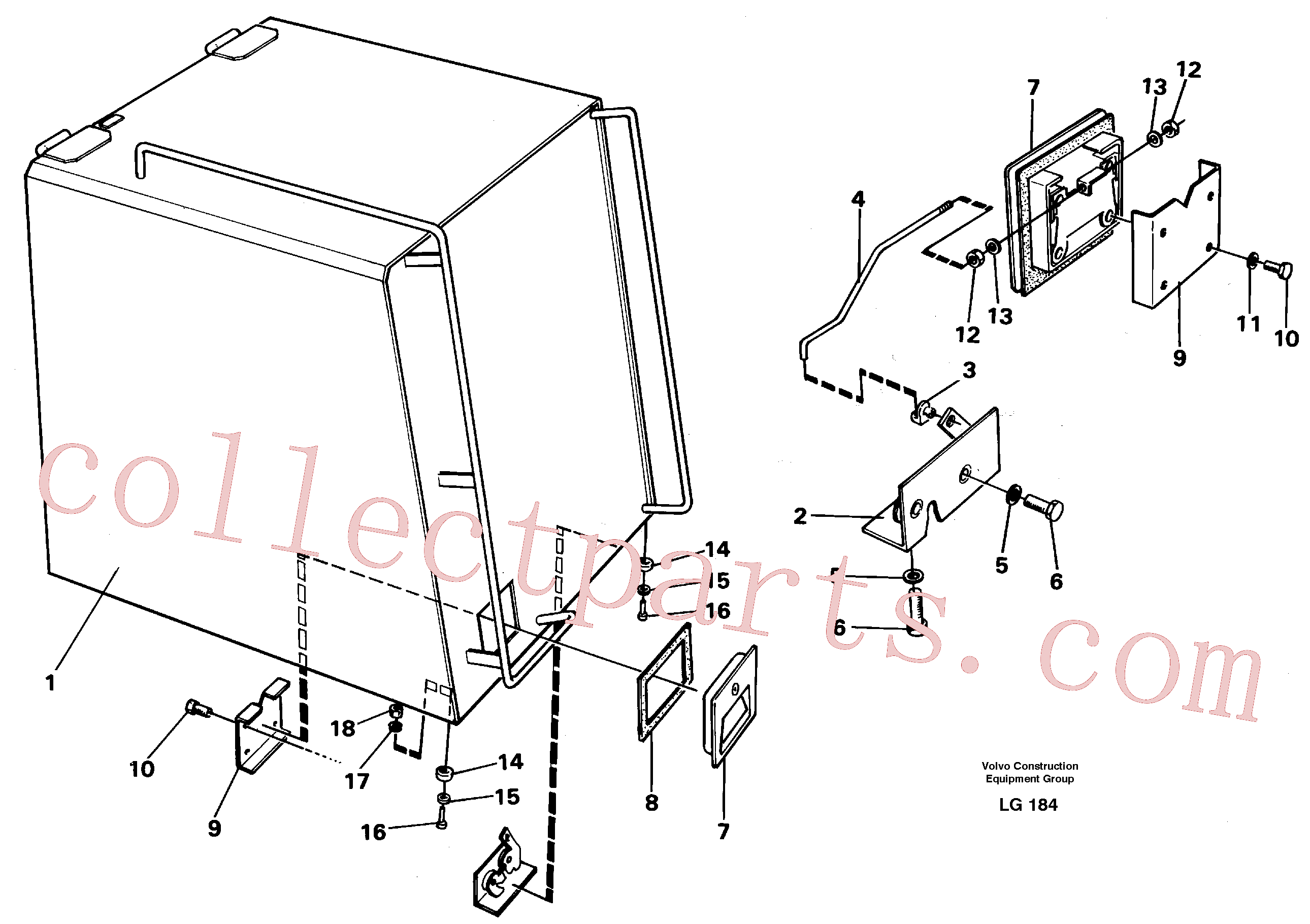 VOE11706359 for Volvo Casing over battery(LG184 assembly)