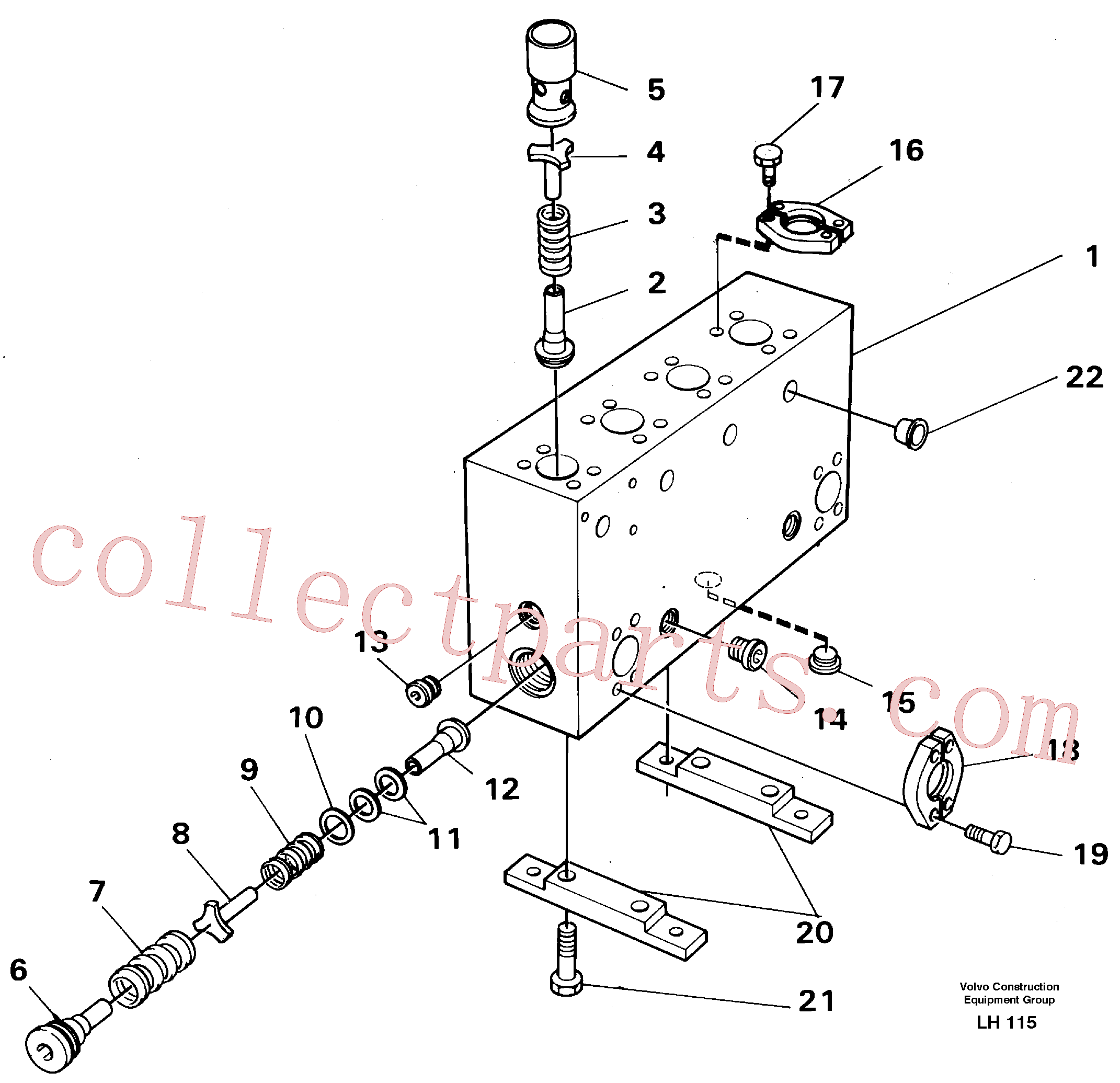 VOE14024900 for Volvo Connection board(LH115 assembly)