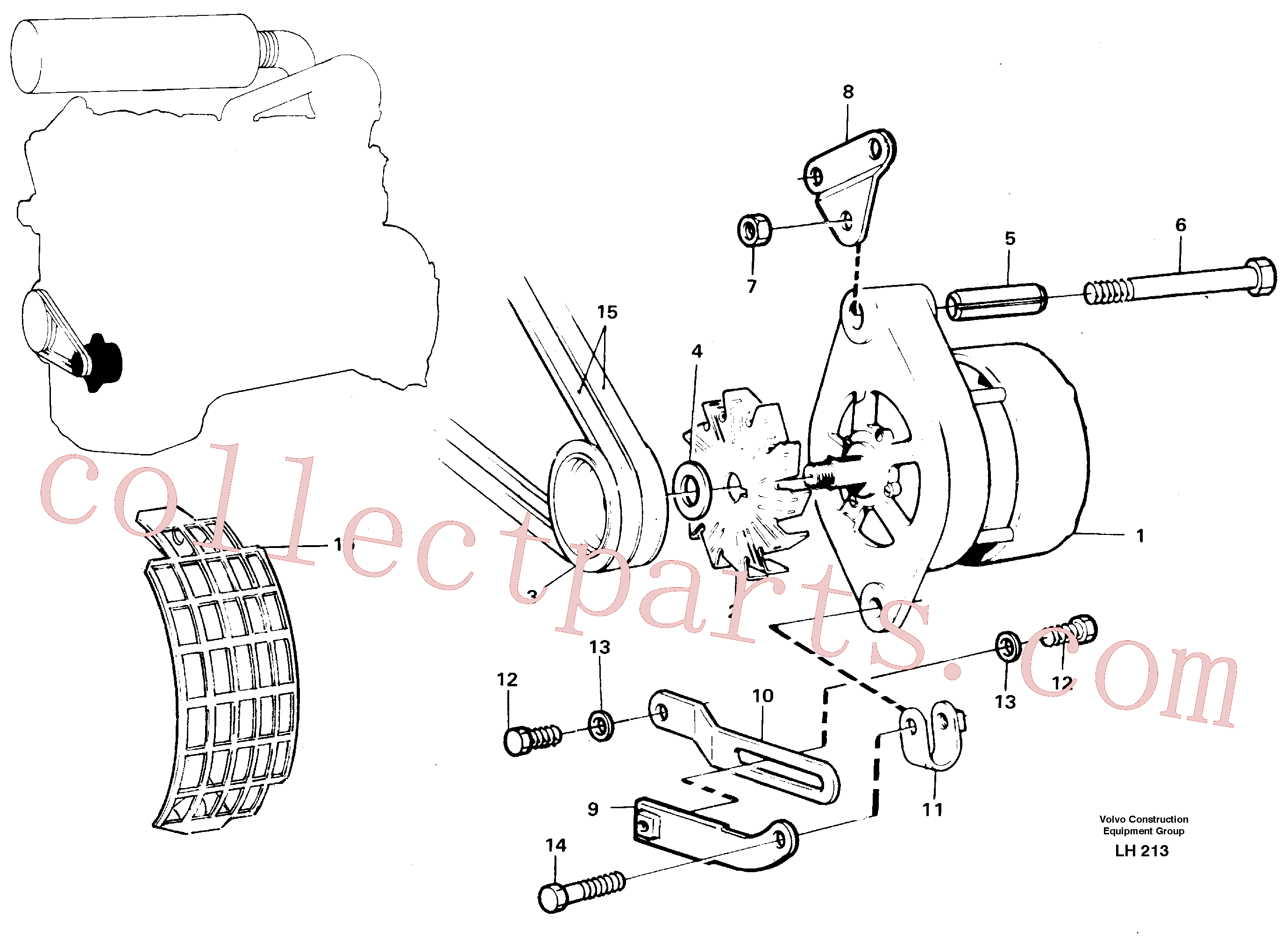 VOE466735 for Volvo Alternator, assembly(LH213 assembly)