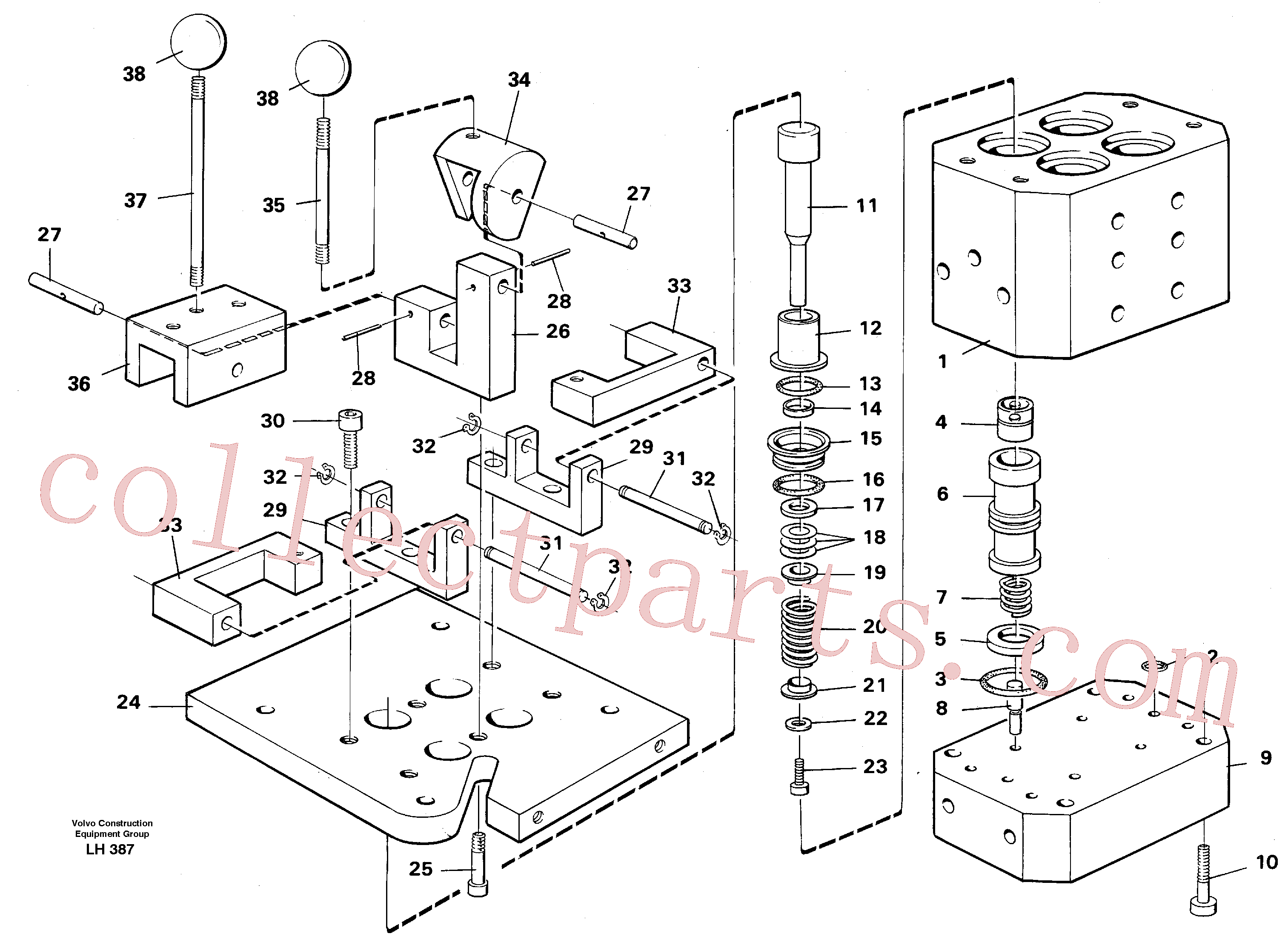 VOE14014658 for Volvo Control pressure valve(LH387 assembly)