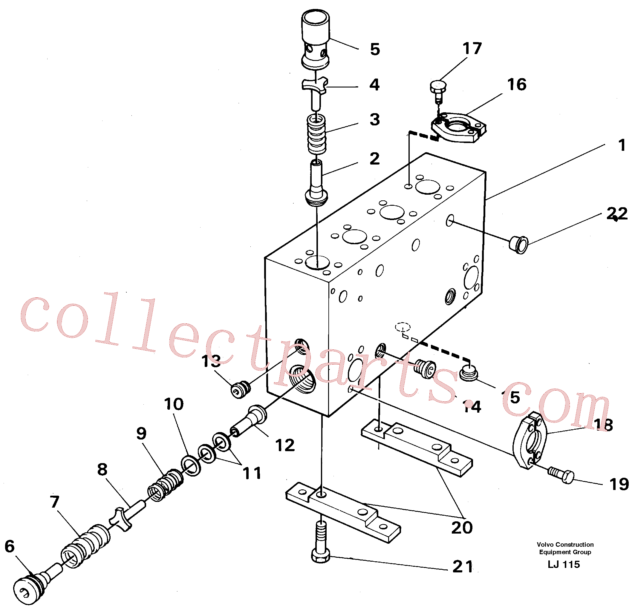 VOE14024900 for Volvo Connection board(LJ115 assembly)
