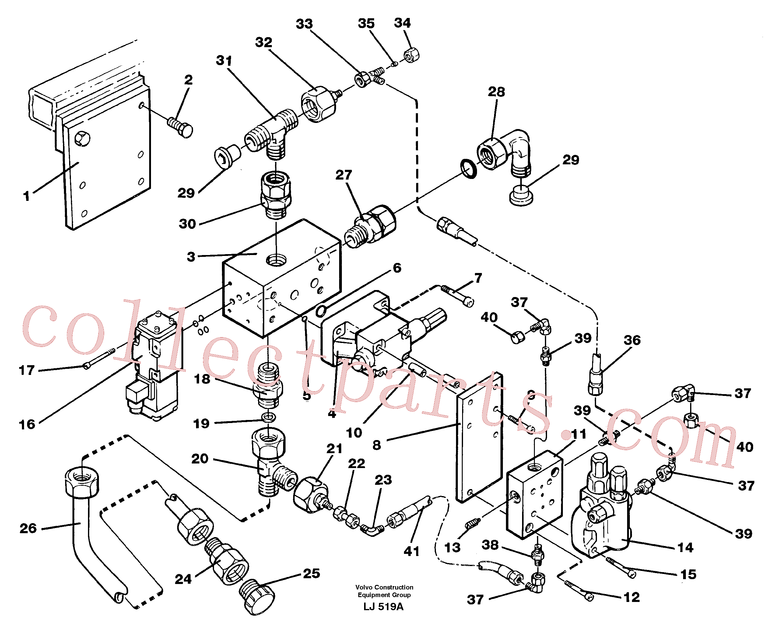 VOE14211065 for Volvo Magnet equipment, Älmhult, valve assembly(LJ519A assembly)