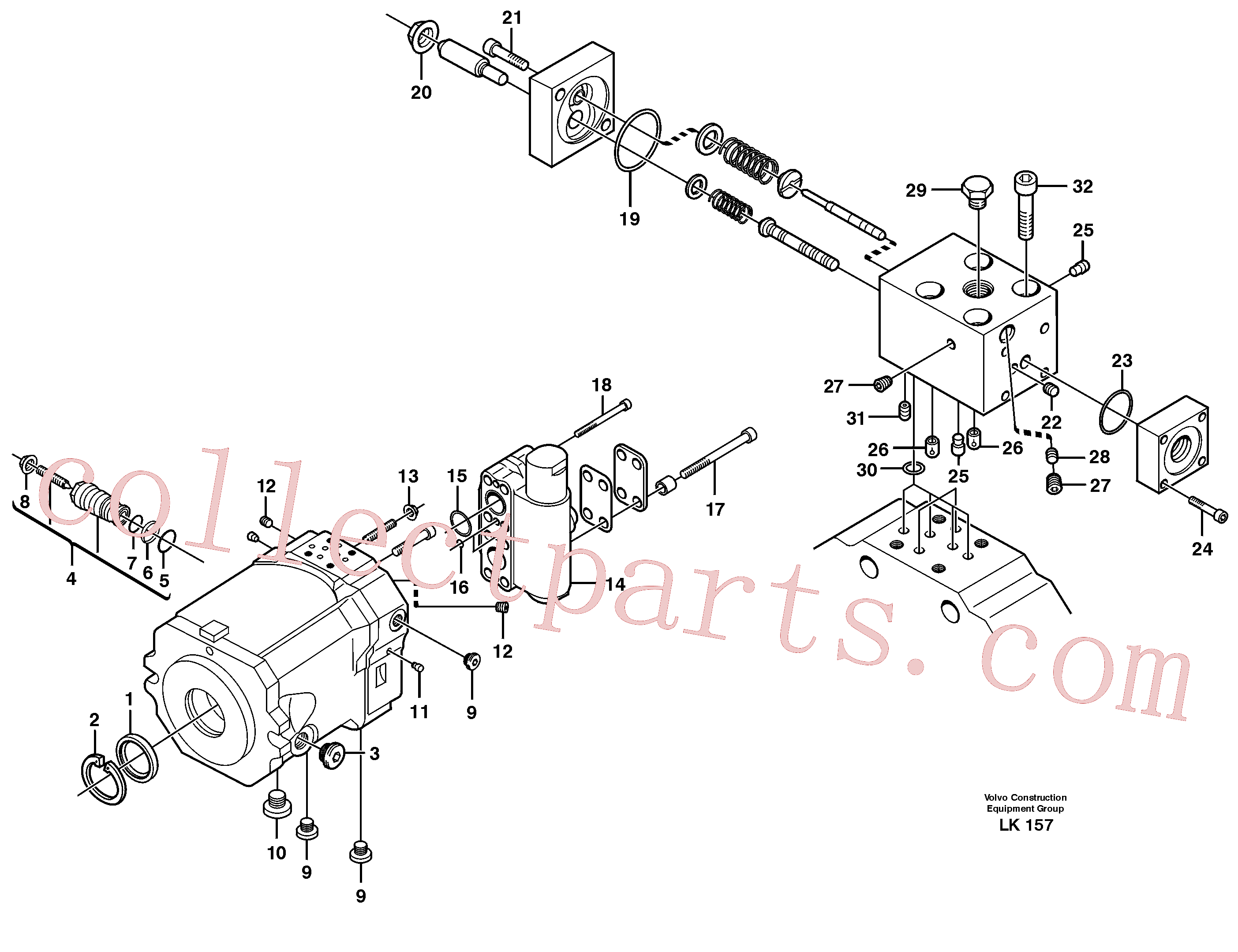 VOE11705605 for Volvo Track gear, travel(LK157 assembly)