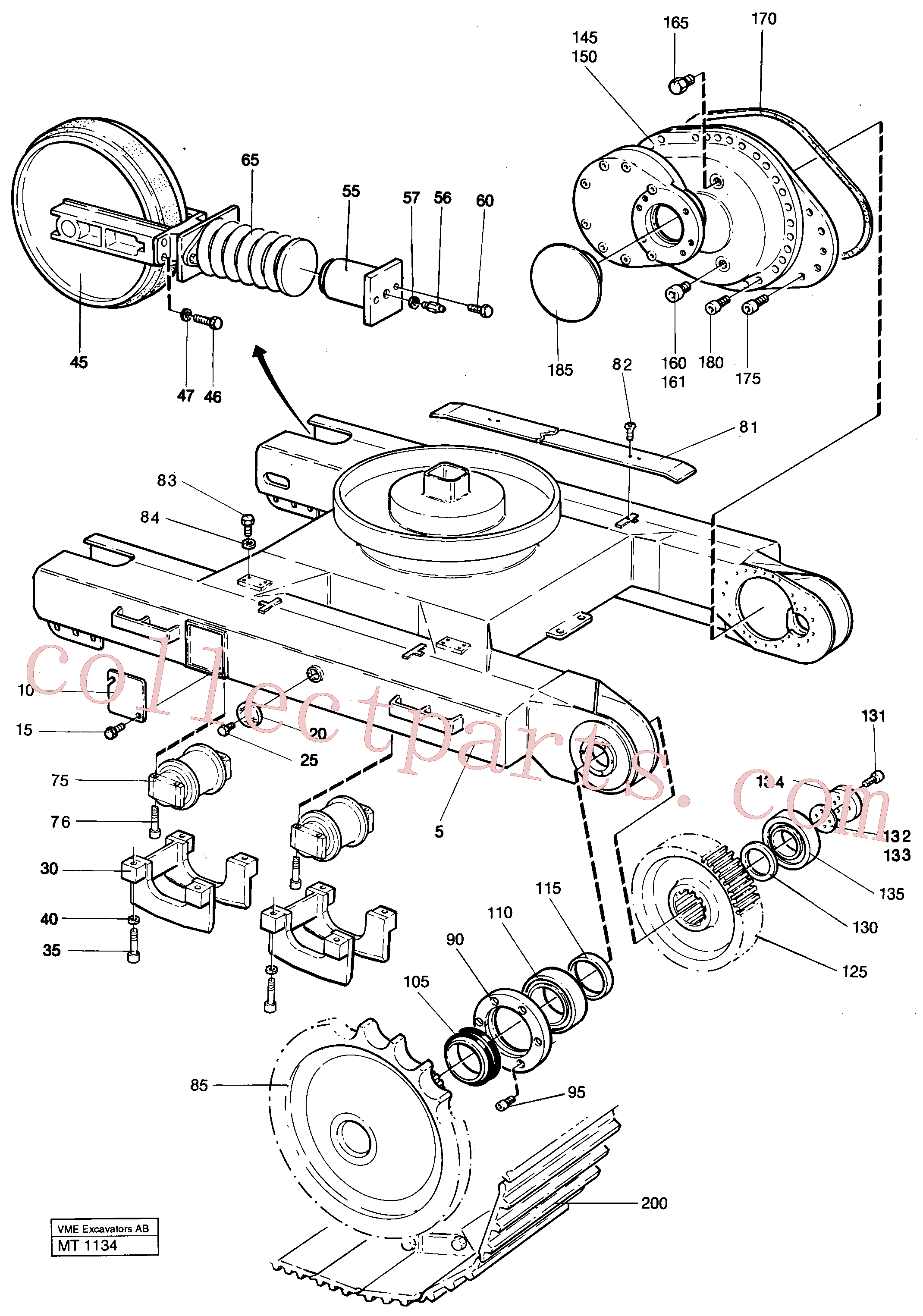 VOE14014632 for Volvo Undercarriage Ec 230 Undercarriage Ec 229(MT1134 assembly)