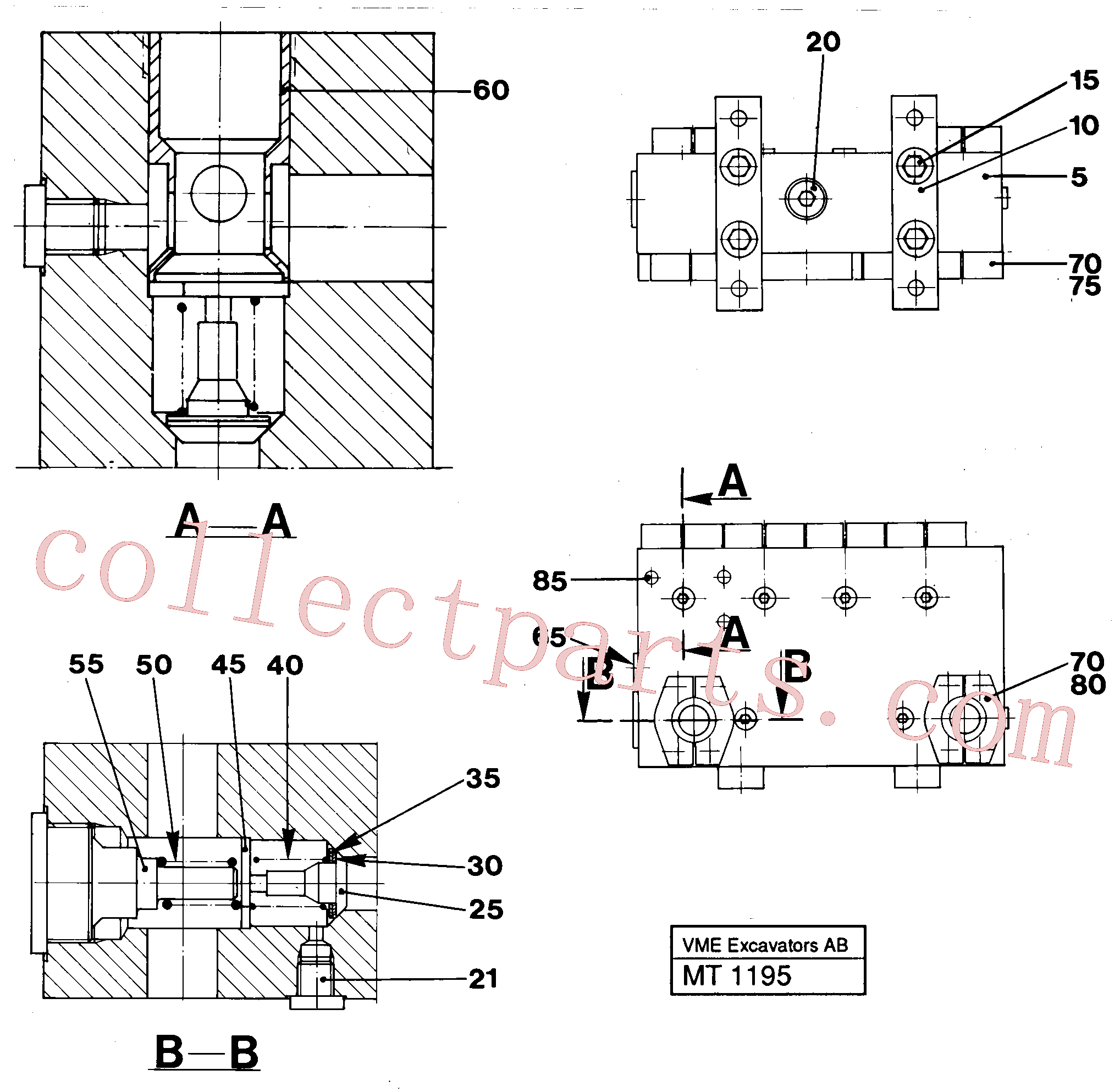 VOE14024900 for Volvo Connection board(MT1195 assembly)