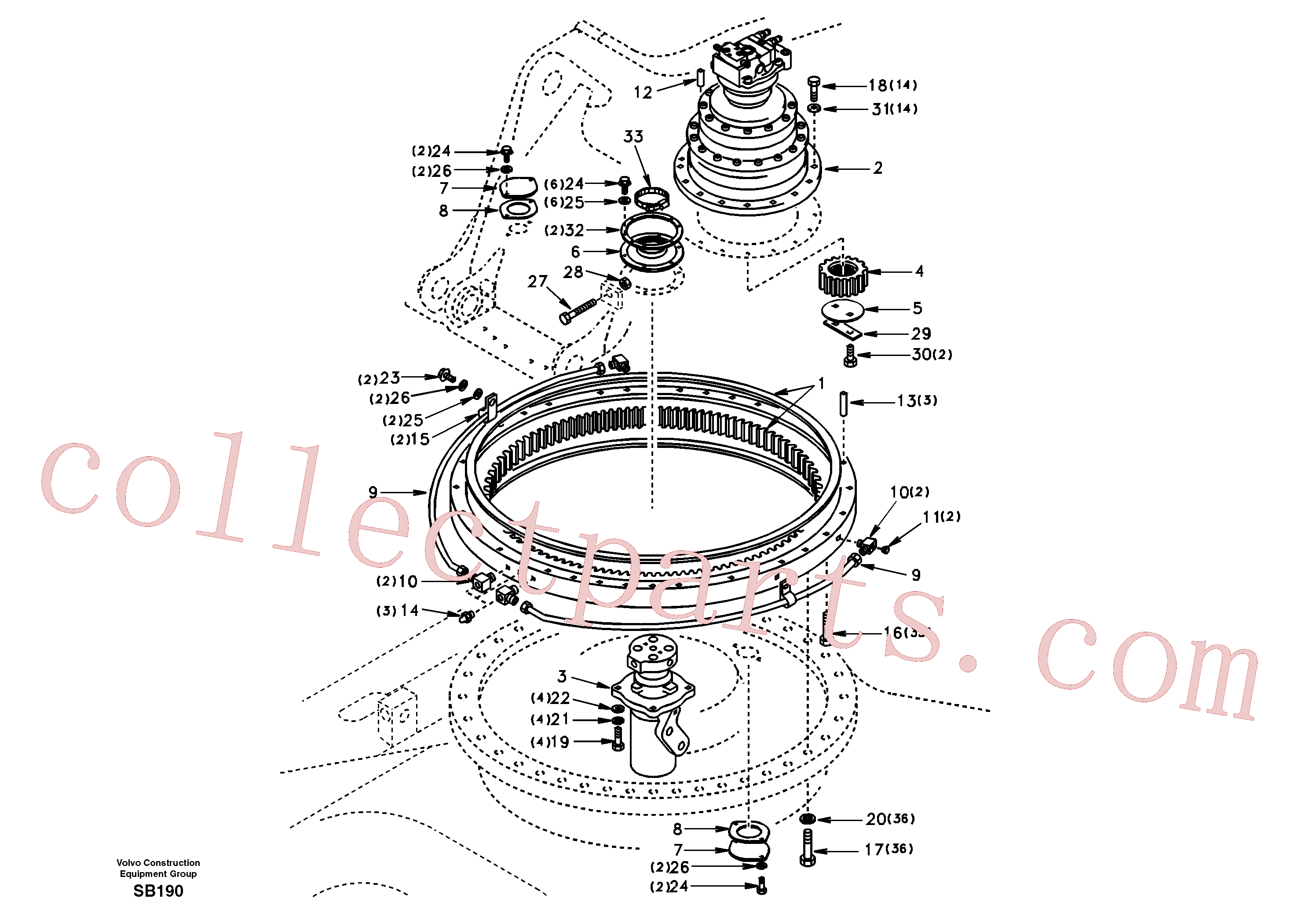SA1050-14201 for Volvo Swing system(SB190 assembly)