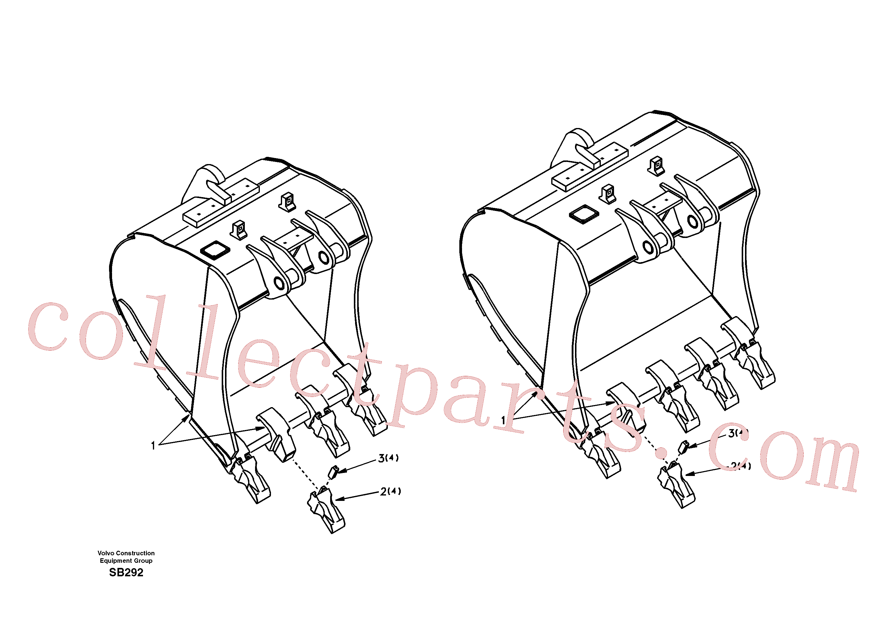 SA1171-70091 for Volvo Buckets for Quickfit(SB292 assembly)