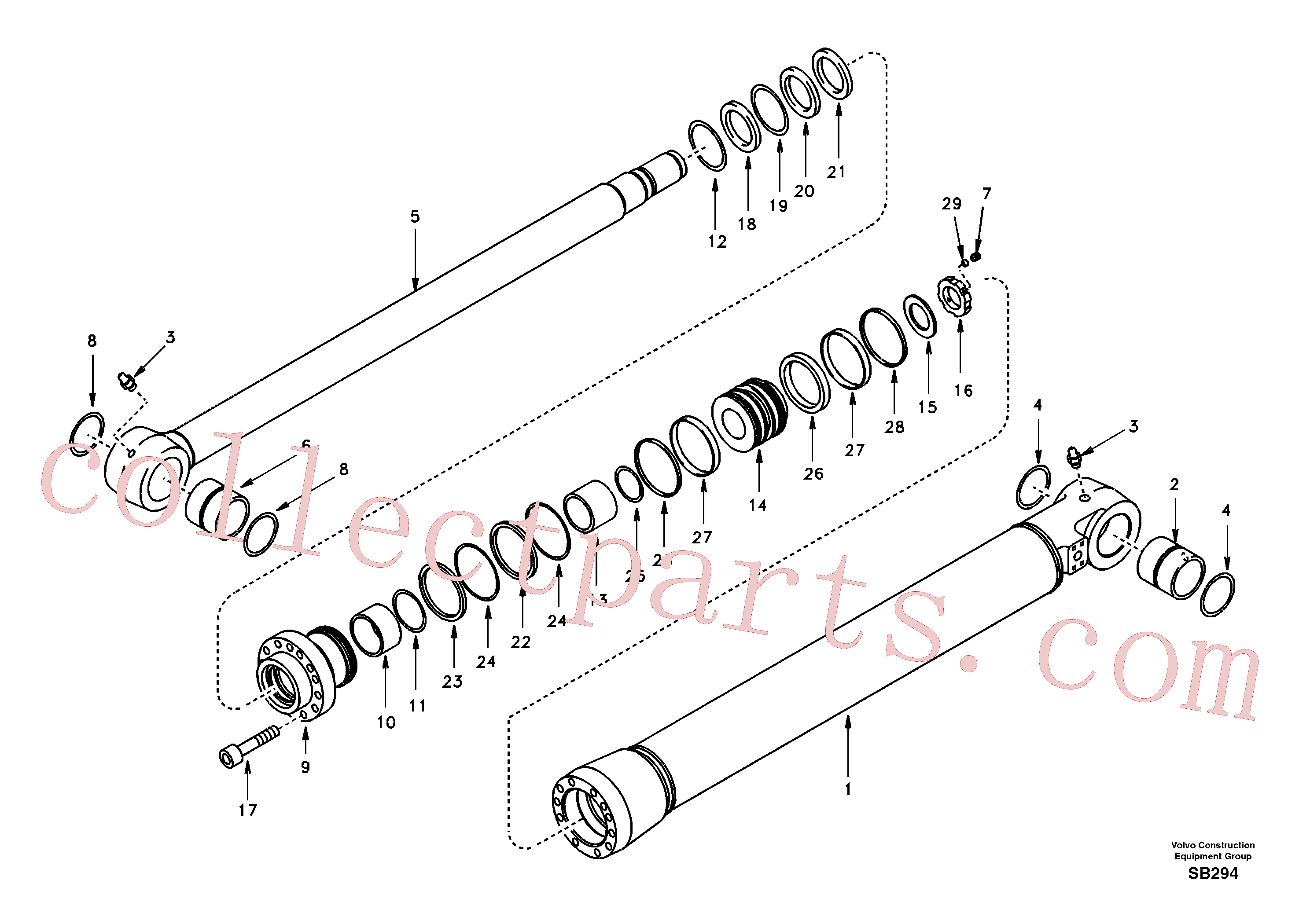 SA1146-03780 for Volvo Bucket cylinder(SB294 assembly)