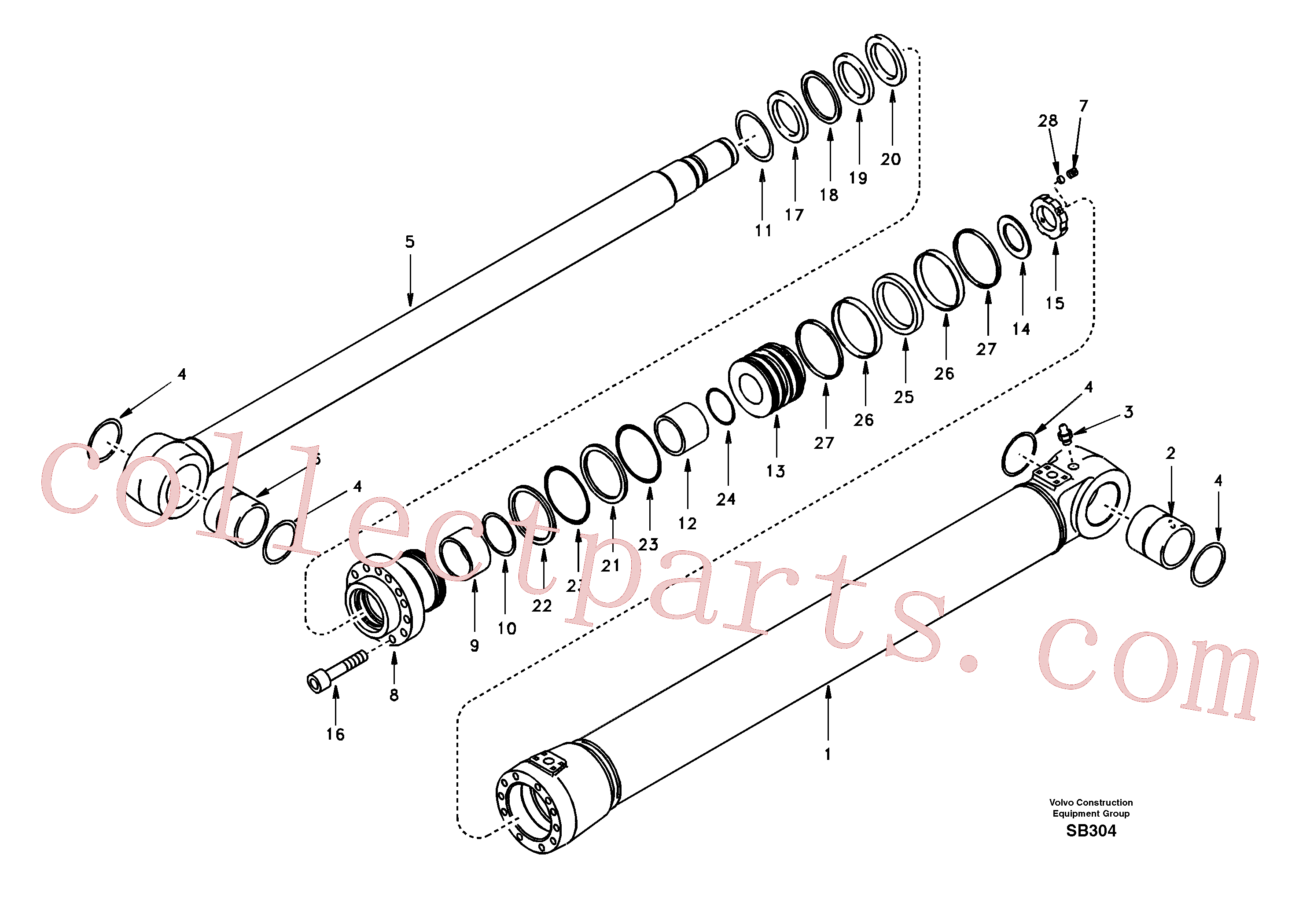 SA1146-03780 for Volvo Boom cylinder(SB304 assembly)