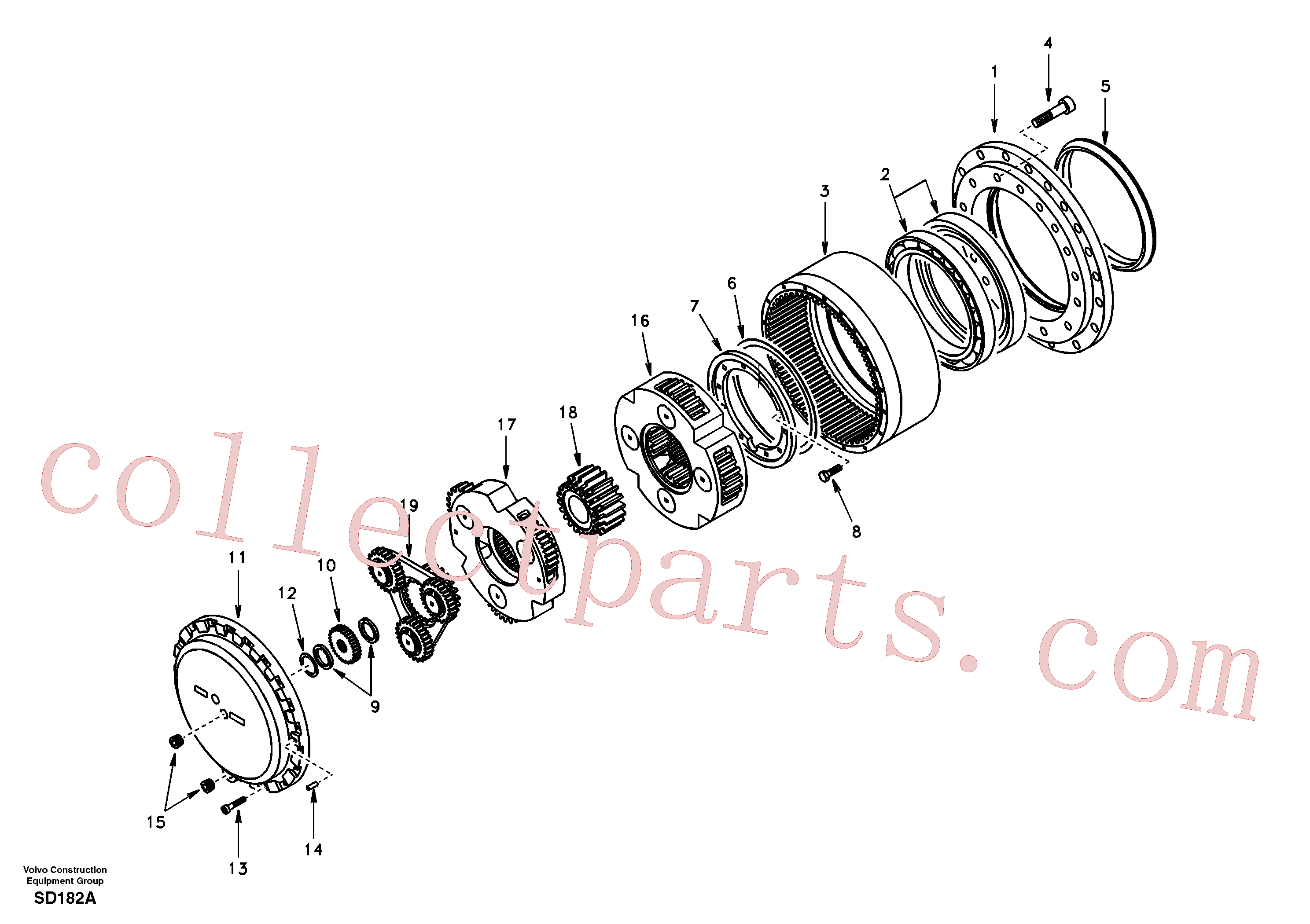 SA1036-00450 for Volvo Travel gearbox(SD182A assembly)