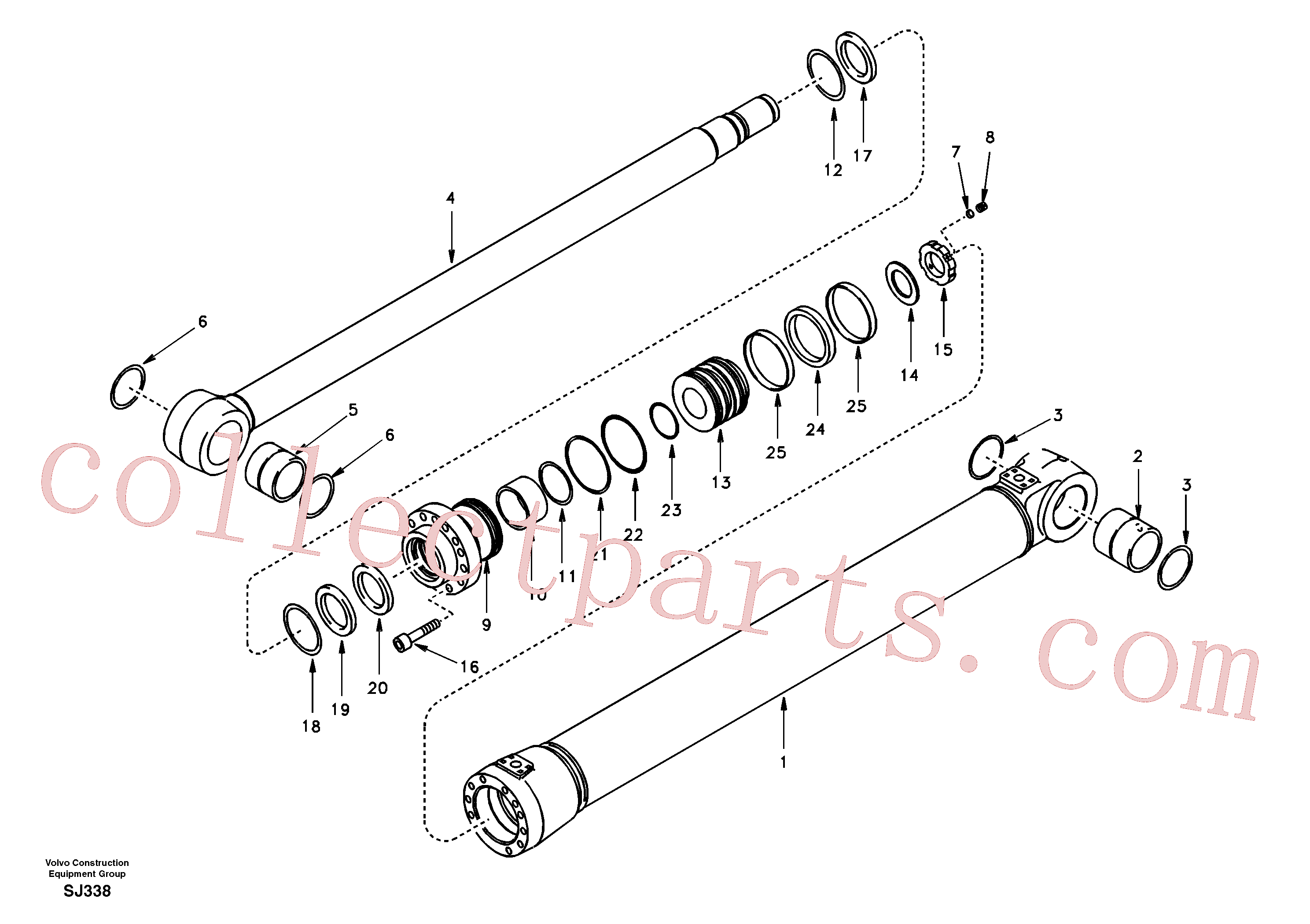 SA1146-03780 for Volvo Boom cylinder 2nd boom(SJ338 assembly)