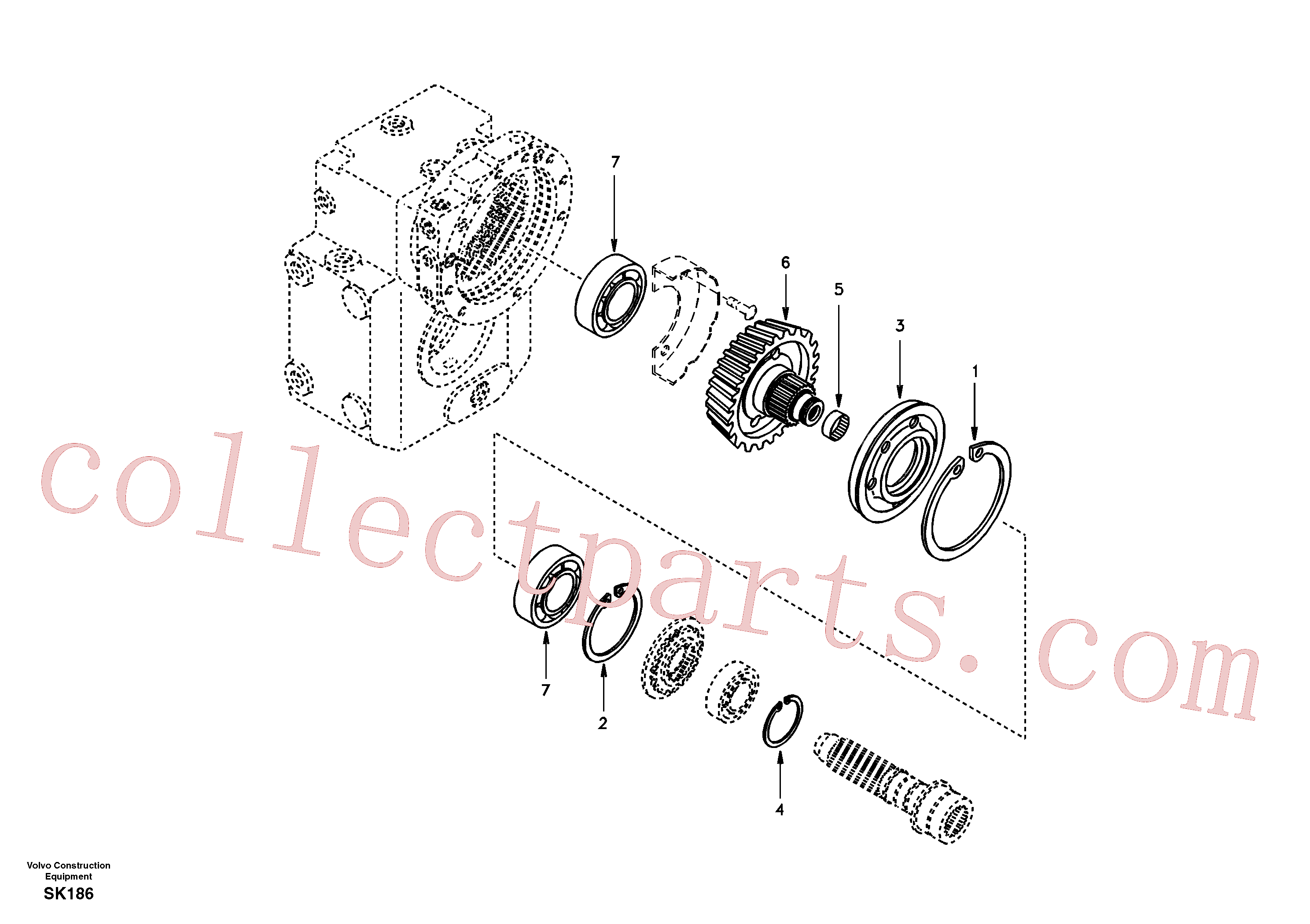 SA1132-00040 for Volvo Spur gear drive(SK186 assembly)