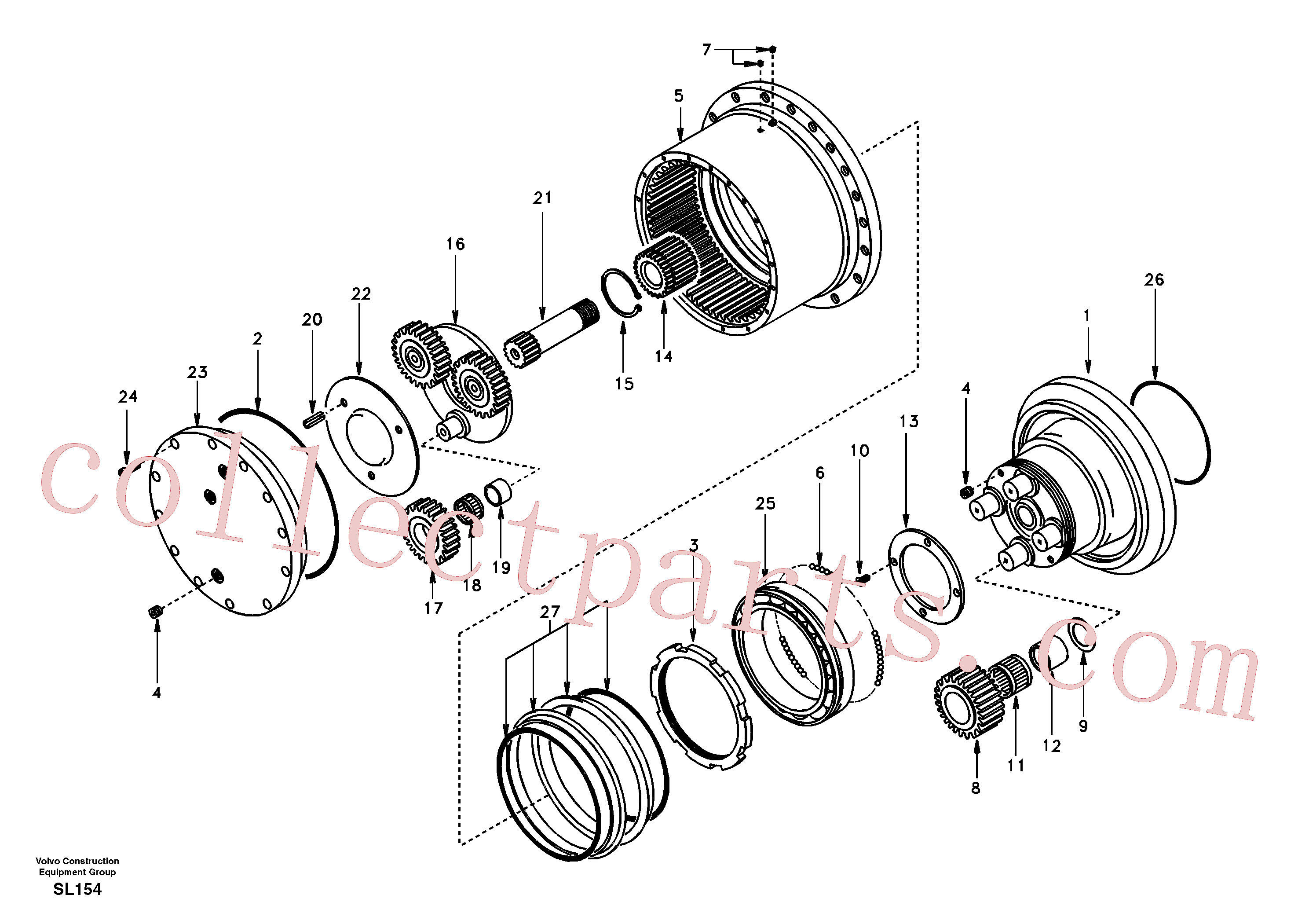 SA14505080 for Volvo Travel gearbox(SL154 assembly)