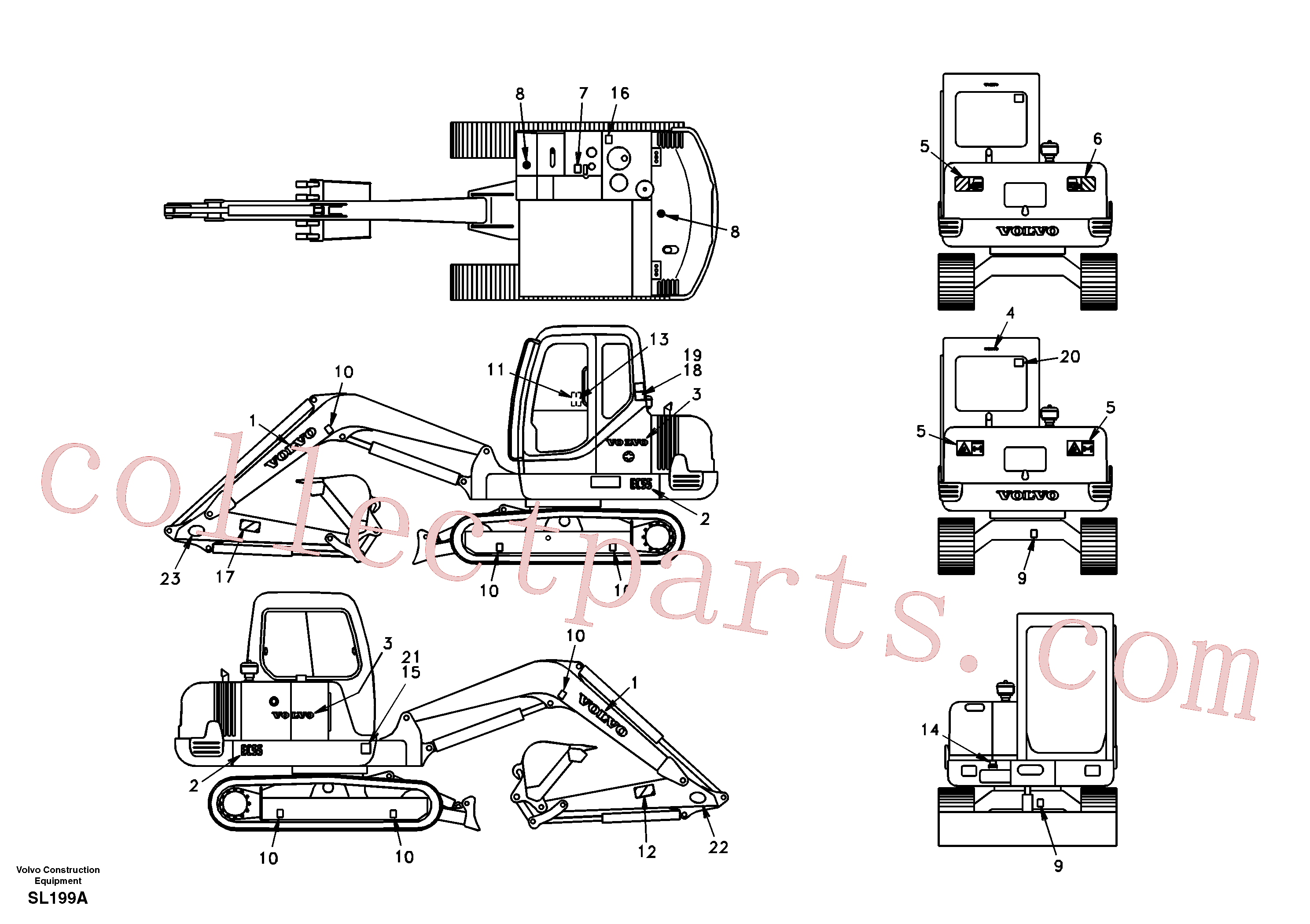 SAP4100152 for Volvo Decal, outer location(SL199A assembly)