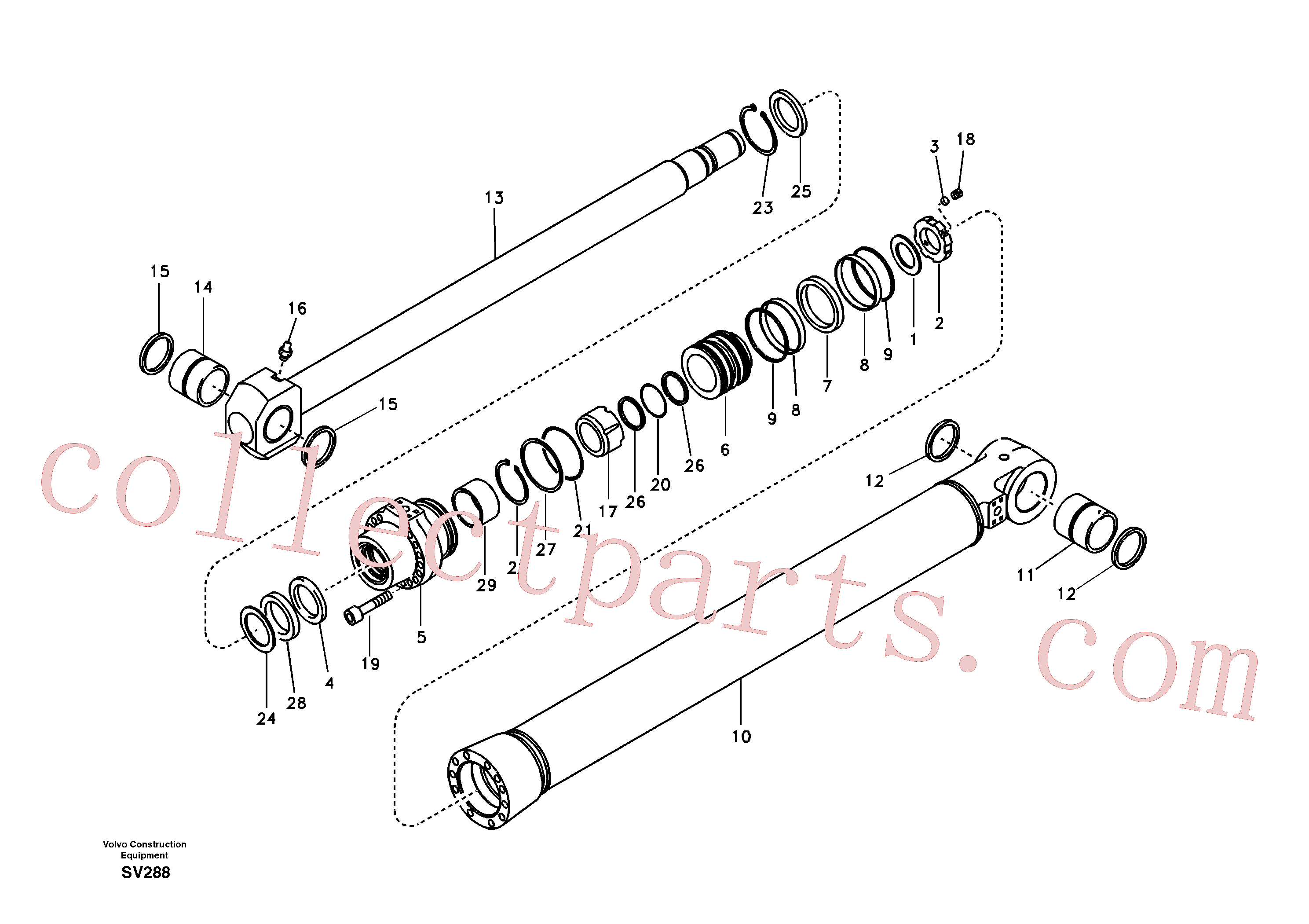 VOE14563803 for Volvo Bucket cylinder(SV288 assembly)