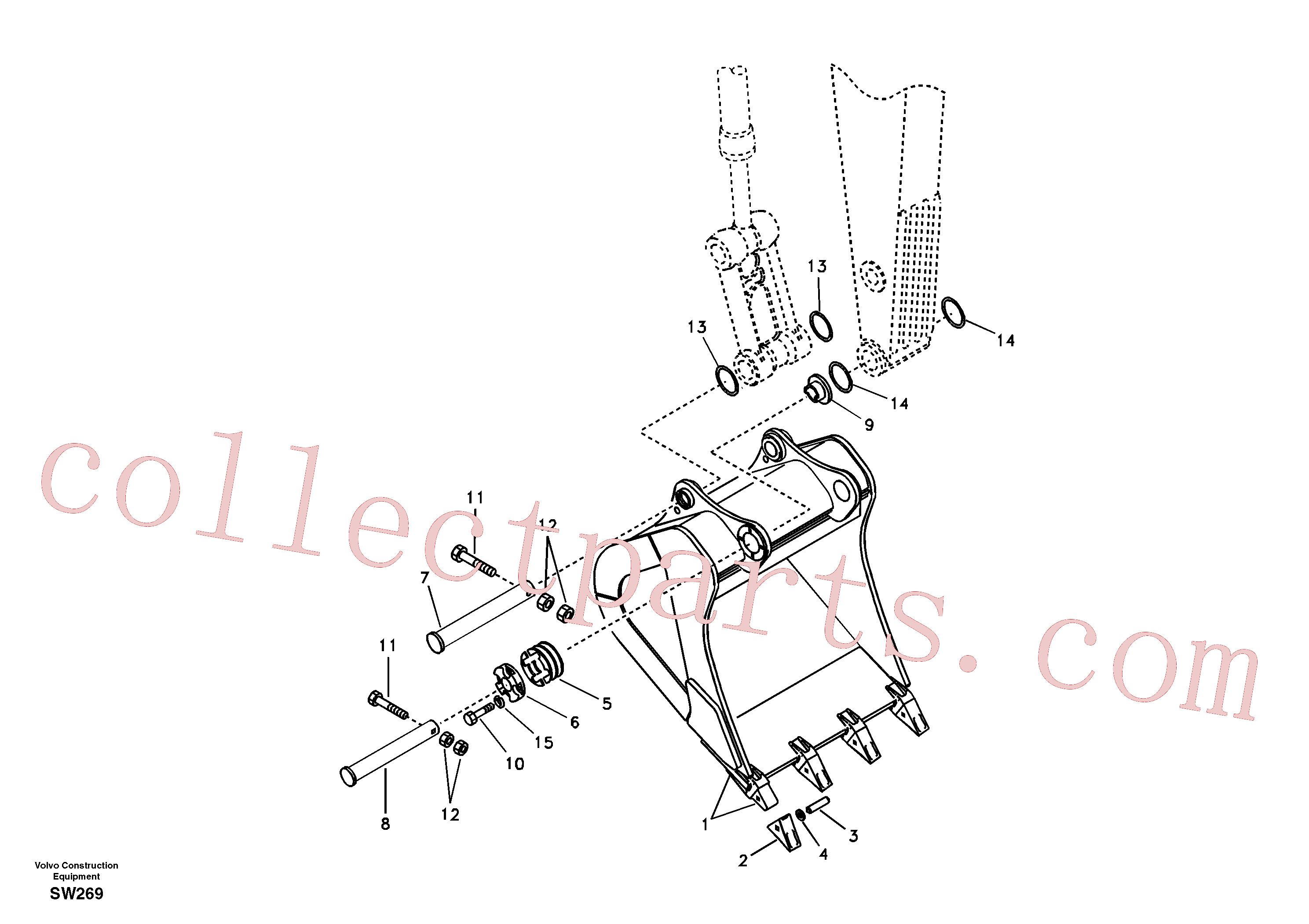VOE14550967 for Volvo Bucket(SW269 assembly)