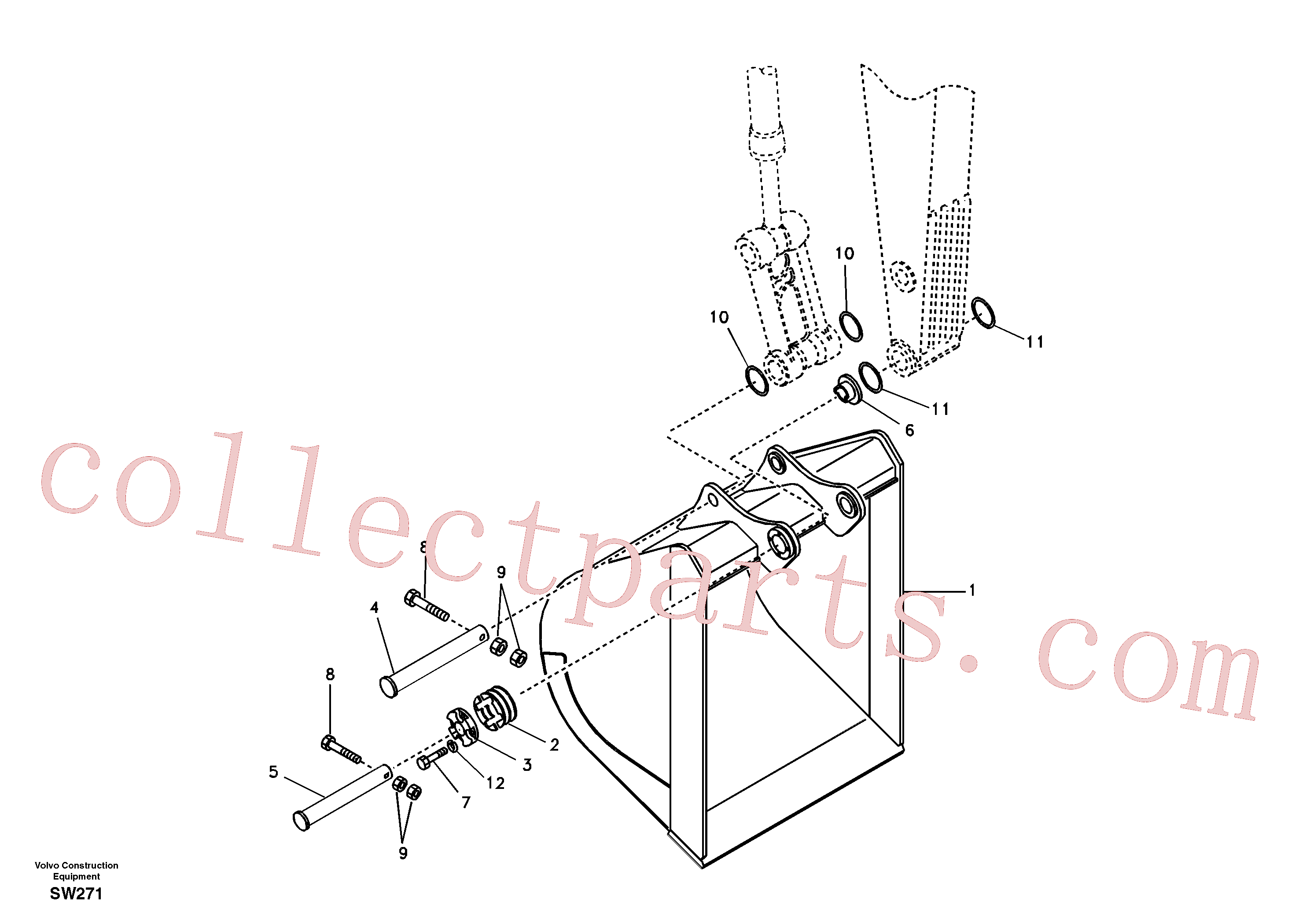 VOE14509278 for Volvo Buckets for long reach(SW271 assembly)