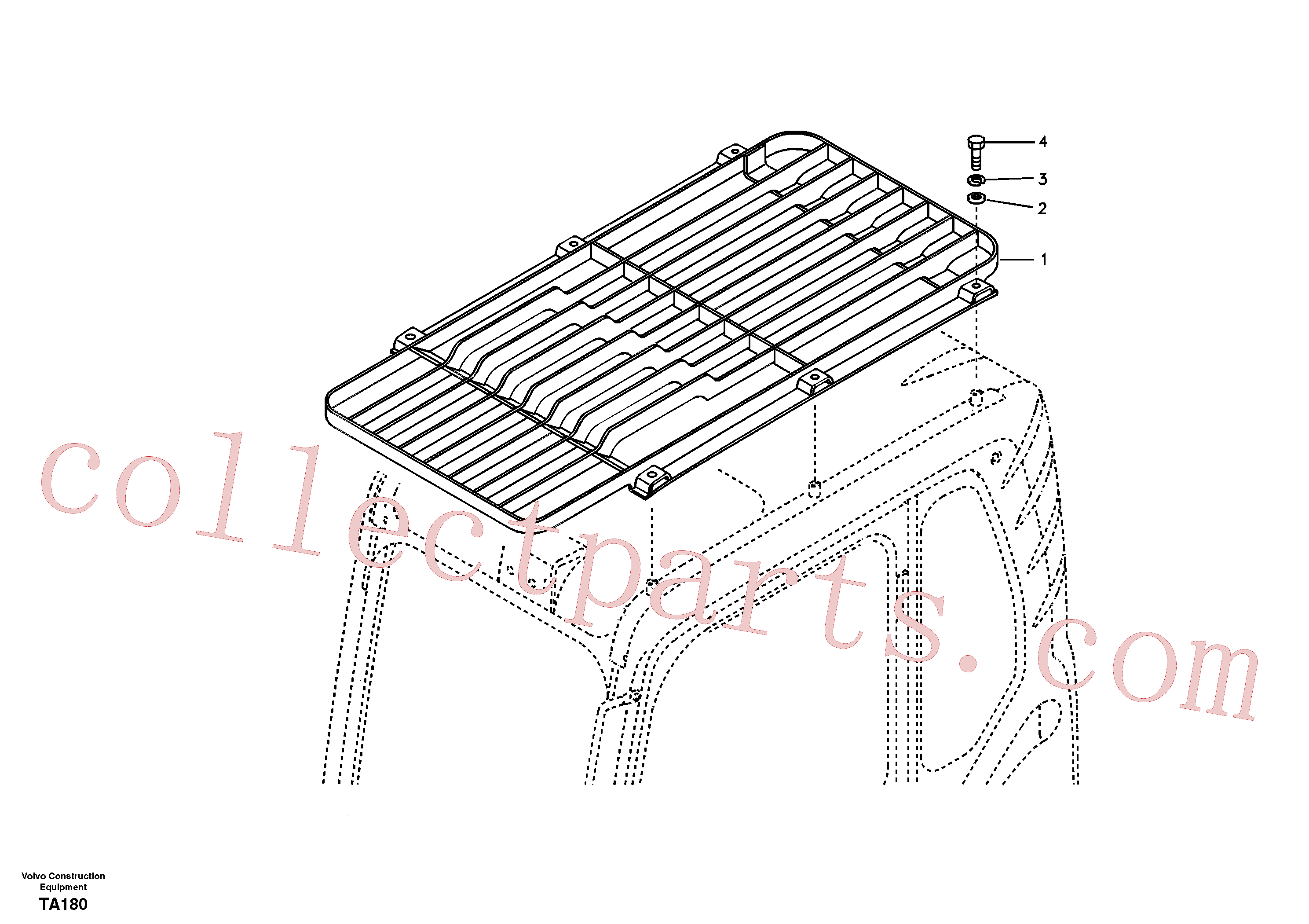 VOE14532477 for Volvo Fops, protecting equipment(TA180 assembly)